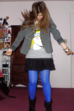 xxiii blazer - H&M shirt - skirt - tights - Target shoes