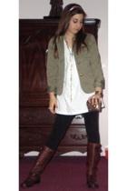 blazer - Hanes shirt - pants - shoes - necklace - purse