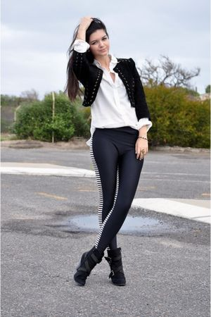 black Newlook jacket - American Apparel leggings