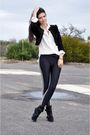 Black-newlook-jacket-american-apparel-leggings