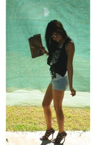 Terranova shorts - Equip purse - Therapy shoes - bardot vest - supre top