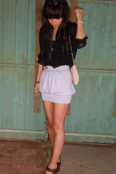 little grey skirt