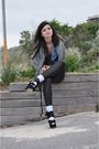 Black-minkpink-leggings-silver-portmans-cardigan-black-topshop-shoes