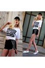 Black-mango-hat-black-mango-shorts-white-mango-t-shirt-white-h-m-sneakers