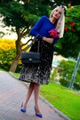 Blue-zara-shirt-black-chanel-bag-blue-suede-zara-pumps