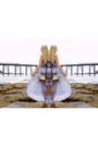 Sky-blue-pol-dress-gold-vintage-bag-nude-tony-bianco-heels
