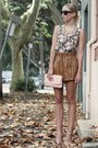 Nude-vintage-bag-brown-pleather-pinclove-shorts-camel-sportsgirl-necklace