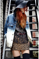 blue La Petite Marmoset jacket - heather gray My Style Rocks t-shirt
