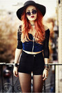 Dark-gray-river-island-hat-blue-young-academy-shorts