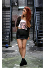 Black-pretty-sunday-cardigan-white-made-by-me-t-shirt-black-forever-21-skirt
