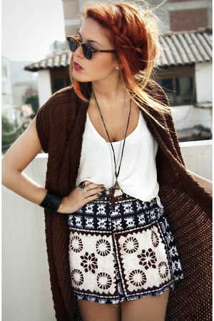 dark brown vintage skirt