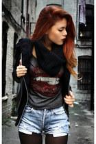 heather gray Beginningboutique t-shirt - black Forever 21 jacket