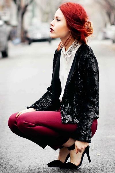 Topshop jacket - Topshop pants - Topshop blouse