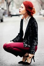 Burgundy and sequins