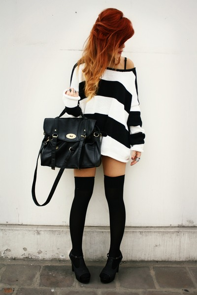 black wholesale bag - black fashionpash shoes - black ROT sweater