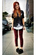 black romwe shoes - crimson markethq leggings