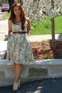 Liberty-of-london-for-target-dress-brown-gap-belt-brown-cookie-lee-necklace-