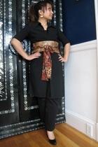dress - ann taylor pants - Jessica Simpson shoes - me & louise belt - earrings
