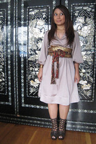 H&M dress - Bebe boots - belt - bracelet