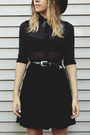 Black-urban-outfitters-boots-black-asos-hat-black-velvet-vintage-skirt