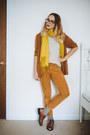 Tawny-oxfords-vintage-shoes-tawny-vintage-blazer-mustard-scarf