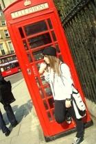 vintage jacket - Zara t-shirt - Bershka pants - candem town purse