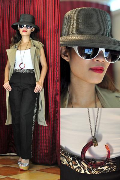black black straw N shop hat - periwinkle kimono-print Parisian shoes
