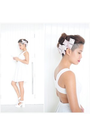 origami Tessa Napa hair accessory - white white sundress SM dress