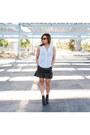 Black-forever-21-boots-light-blue-h-m-top-black-h-m-skirt