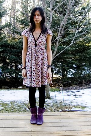 Zara dress - purple Aldo boots