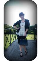black Gap sweater - beige Forever 21 shirt - black vintage from Ebay purse - bla