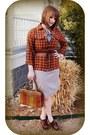 Vintage-dress-harolds-jacket-vintage-purse-fryes-clogs-audrajean-etsy-ob