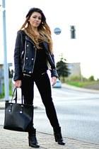 black ankle boots Mango boots - black zip jeans Mango jeans