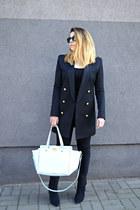 black H&M blazer - light blue studded bag BCBGeneration bag