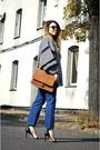 Blue-h-m-trend-jeans-black-h-m-trend-jacket-bronze-suede-mango-bag