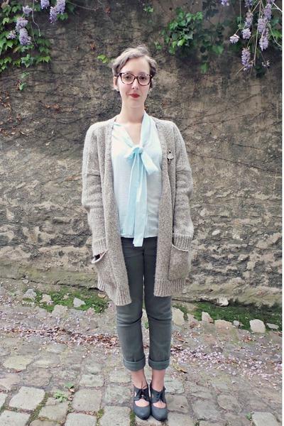 Naf Naf jacket - asos shirt - Camaïeu pants