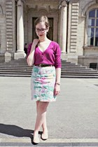 H&M skirt - Lafayette collection cardigan - H&M flats