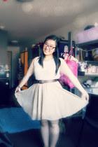 lace top - chiffon skirt