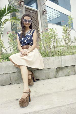 navy Sugarlips dress - black floral sunnies sunglasses