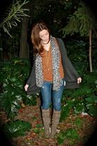 BLANCO jeans - BLANCO boots - Zara shirt - Zara cardigan - BLANCO necklace - H&M
