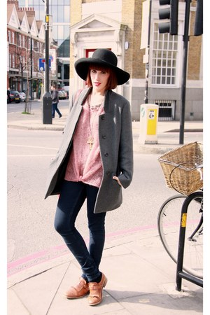 Zara shoes - Zara coat - H&M jeans - fun&basics hat - Topshop jumper