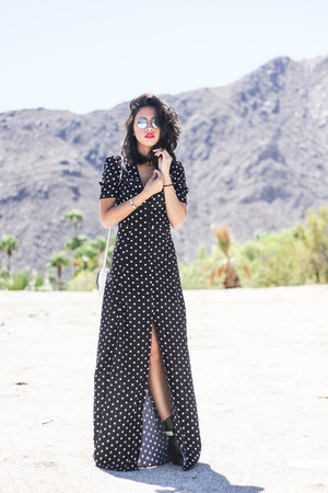 maxi dress daily look dress - round 80s purple sunglasses