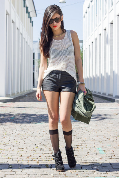 mesh Urban Outfitters top - DV by dolce vita boots - Urban Outfitters jacket