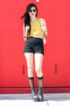 Urban Outfitters shorts - tardy Jeffrey Campbell boots