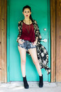 Jemma-dolce-vita-boots-slasher-shorts-mink-pink-shorts-kimono-akira-cape