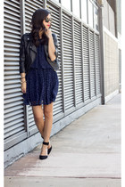 asos jacket - chiffon dress DV by dolce vita dress - wayfarer rayban sunglasses