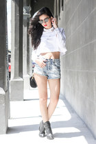 Zara top - Alexander Wang bag - slasher shorts MinkPink shorts