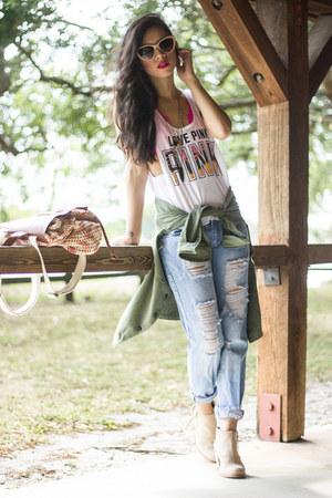 loose tank top victorias secret pink top - DV by dolce vita boots