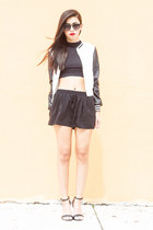 varsity jacket Daisy Street jacket - Forever 21 shorts - ray-ban sunglasses