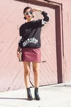 Misbhv sweatshirt - Zara boots - Forever 21 bag